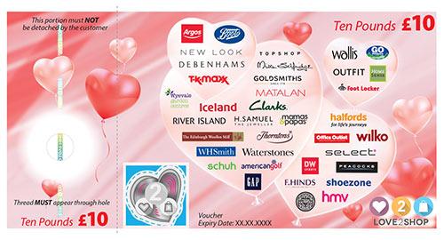 Love2shop gift voucher