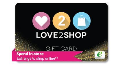 Love2shop gift card