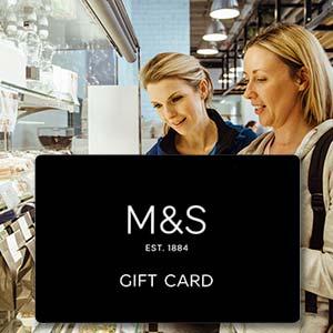 Presentation Card. M&S Gift Vouchers